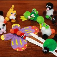 She's Crafty: Making PomPom Animals with the Kids