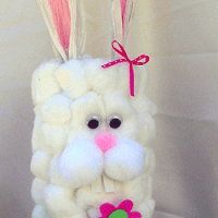 She's Crafty! Recycled Cottontail Bunny