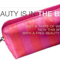 Target   FREE Beauty Bag