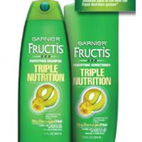 Free Sample of Garnier Fructis Triple Nutrition Shampoo & Conditioner