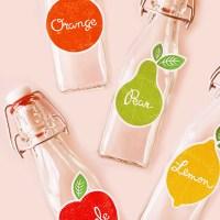 FREE Printable: Festive Fruit Drink Labels