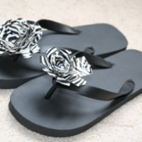 She's Creative! Floral Duct Tape Flip Flops