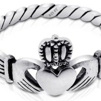 Nickel Free Sterling Silver Irish Claddagh Friendship and Love Ring for $6.96 Shipped