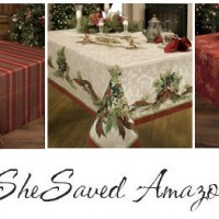 Amazon Deals Holiday Table Linens Deals