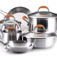 Rachael Ray Stainless Steel 10-Piece Cookware Set for $89.99 Shipped!