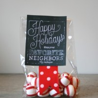 Neighbor Printable Chalkboard Holiday Gift Tags