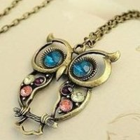Owl Charm Necklace for $1.01 Shipped
