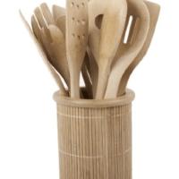 Bamboo Kitchen Utensil Set For $18.30 Shipped