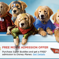 FREE Disney Planes Movie Admission With Super Buddies Purchase