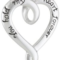 Sterling Silver Open Heart Pendant For $29 Shipped