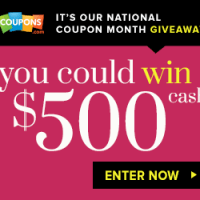 National Coupon Month Giveaway | Win $500
