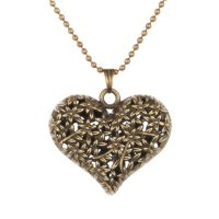 Bronze Heart Pendant For $1.99 Shipped