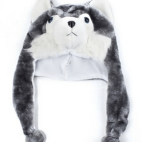 Husky Plush Hat For $3.61 shipped