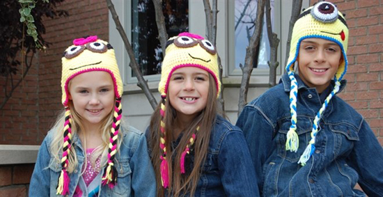 Knit Minion Hats