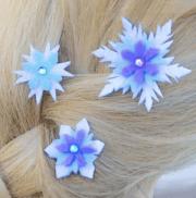 diy elsa snowflake hair barrettes