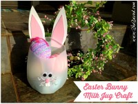 Easter Bunny Milk Jug Crafts