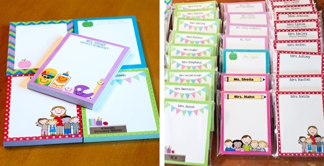 personalized teacher notepads for