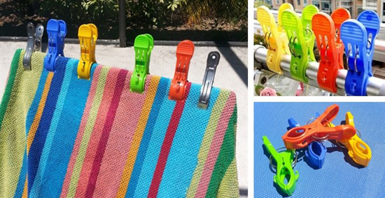 Beach Towel Clips Set Of 4 For 599  SheSaved