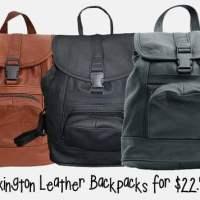 Lexington Leather Backpacks For $22.99