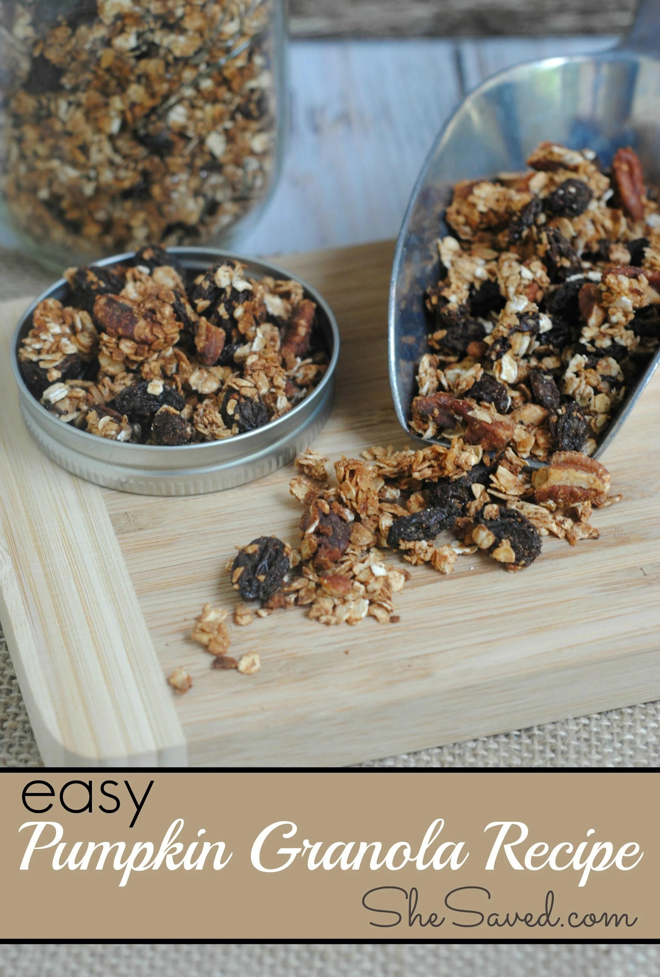 Easy Pumpkin Granola Recipe - SheSaved®