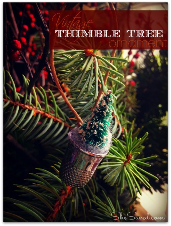 Thimble Tree ornament