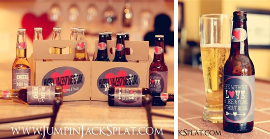 Valentine's Day Personalized Bottle Carrier & Labels