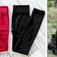 Fleece Lined Leggings 2 Pack For $15.95 Shipped