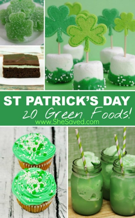 Saint Patricks Day Green Food