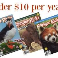 RARE! Ranger Rick Magazine: Under $10 per Year!
