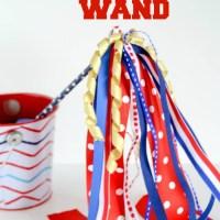 4th of July Craft: Patriotic Ribbon Wands