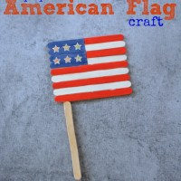 4th of July Project: Popsicle Stick Flag Craft