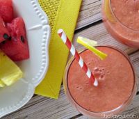 Make sure to pin this Pineapple Watermelon Cooler recipe for the next time that you need an easy and delicious refreshing drink!