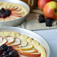 Homemade Apple Blackberry Fruit Tart Recipe
