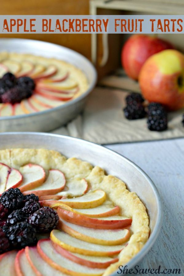 Save this Apple Blackberry Fruit Tart Recipe for the next time that you need a simple yet elegant and delicious fall dessert!