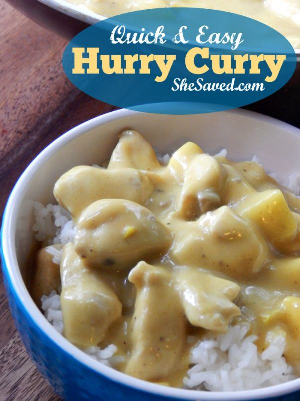 This Hurry Curry recipe is a great fit for those nights when you need an easy meal for the family!