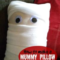 Halloween Decorating: How to Make a Mummy Pillow