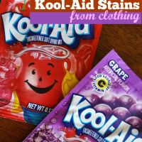 How to Get Kool Aid Stains Out of Clothing