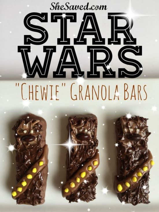 Make these fun Chewbacca bars for your little STAR WARS fans! These STAR WARS treats are easy and fun to make!