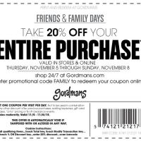 HOT Gordmans 20% Off Coupon