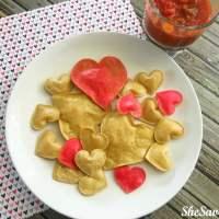 Valentine's Day Snack: Heart Tortilla Chips