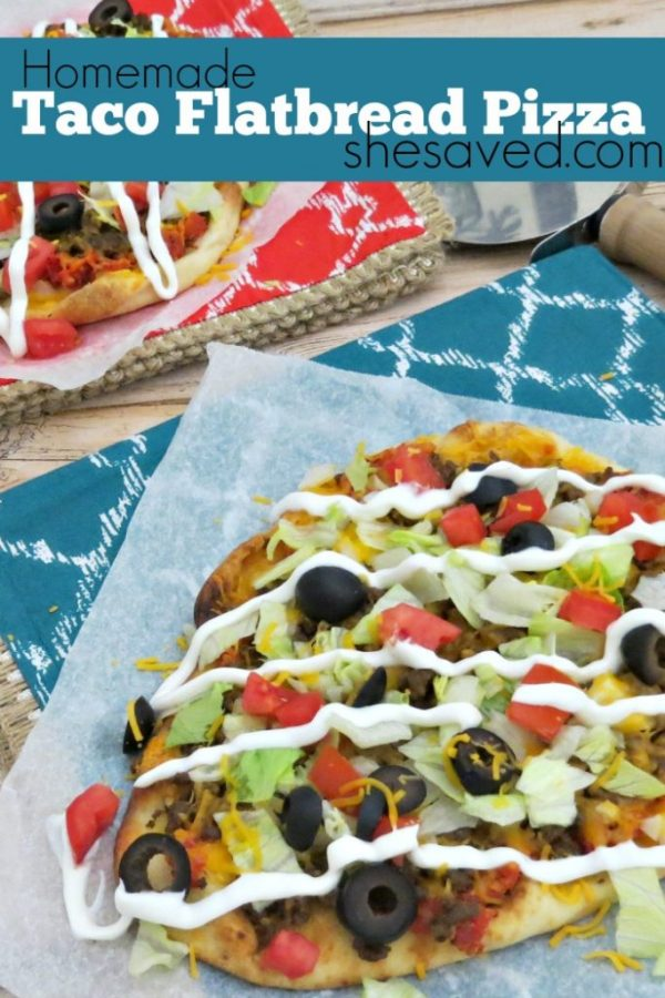 This Taco Flatbread Pizza recipe is one of our favorites for a quick and easy meal that your family will love!