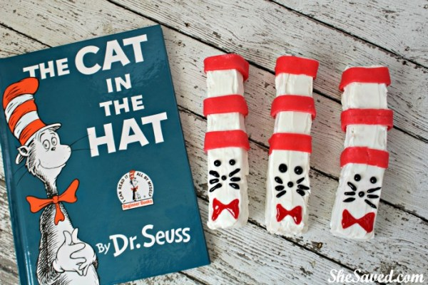 Here is a fun Cat in the Hat treat recipe to make during your reading week celebrations and for Dr. Seuss Day!