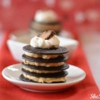 No Bake Chocolate Peanut Butter Mini Cakes