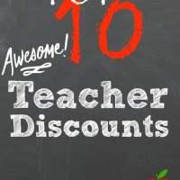 Top 10 Teacher Discounts