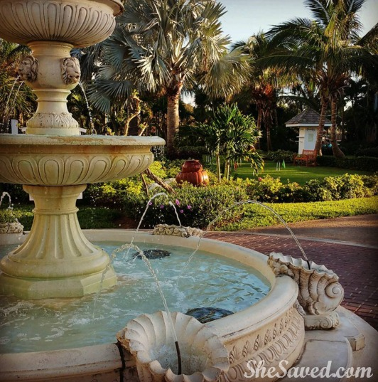 The property at Beaches Turks & Caicos is amazing. I love these gorgeously placed fountains!
