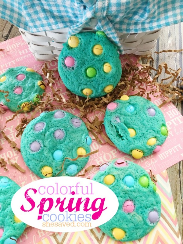 Colorful and easy, these fun Easter Cookies make for fun spring treats to go along with your Spring festivities!