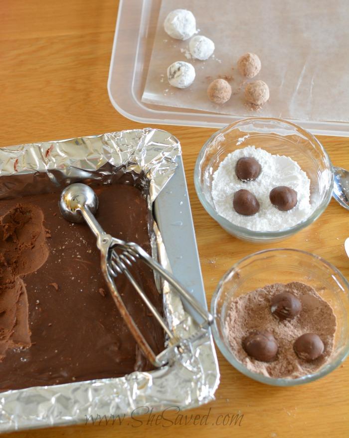 Making Chocolate Boulders