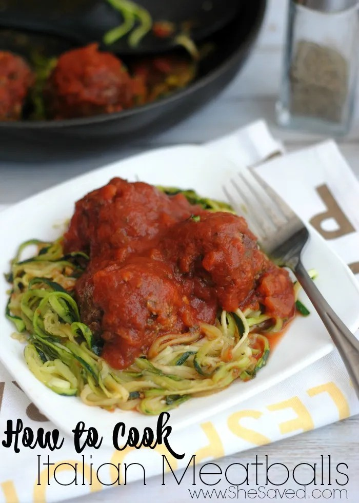 If you want to know How to Cook Italian Meatballs, I have the best recipe for you! It's easy and leaner, and it's sure to be a hit with your dinner crowd!