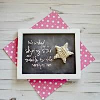 Twinkle Twinkle Star DIY Art Work for Nursery
