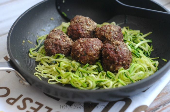 Italian Meatballs and Zoodles